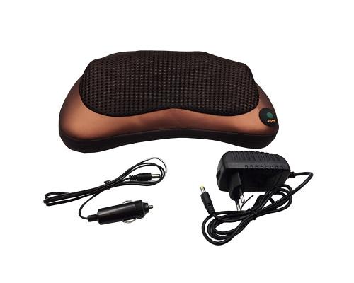 Массажная подушка CHM Massage Pillow 8028, темно-коричневая