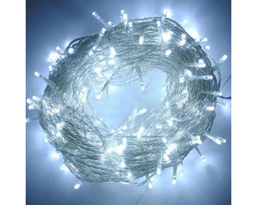 Гирлянда Нить 330 ламп, длина 34 м, белый свет, белый провод