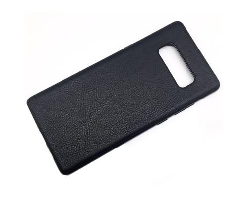 Чехол-накладка для Samsung Galaxy Note 8 черный под кожу