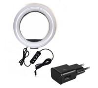 Кольцевая лампа для профессиональной съемки c адаптером, диаметр 20 см