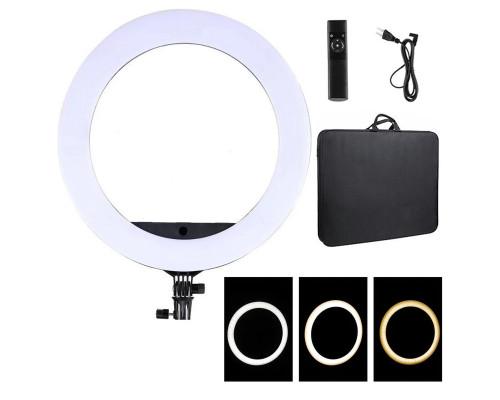 Кольцевая селфи лампа Soft Ring Light HQ-21N, диаметр 52 см