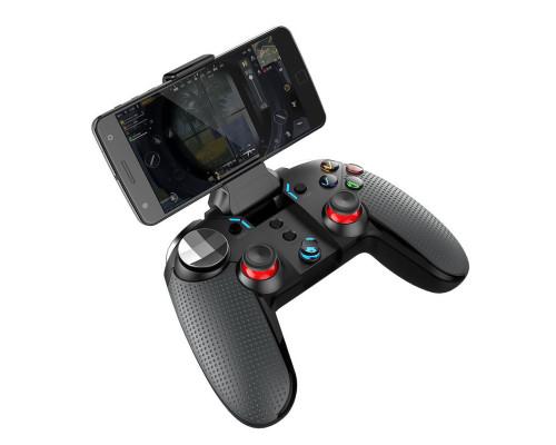 Геймпад джойстик PG-9099 беспроводной для телефона и ПК, черный с красным