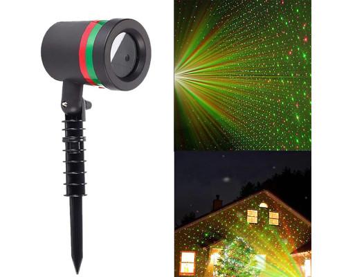 Новогодний лазерный проектор Звездный Дождь для улицы Star Shower, точки
