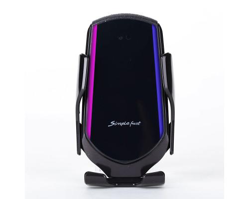 Автомобильный держатель с беспроводной зарядкой Smart sensor R1 QI 15W, черный