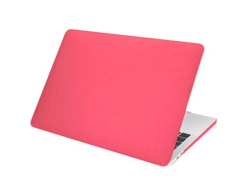 """Пластиковый чехол-накладка для Apple MacBook Pro 13"""" 2016 - 2017, матовый, ярко-розовый"""