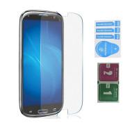 Защитное стекло для Samsung Galaxy S3 (вид - 2.5D, в комплекте салфетка и стикер)