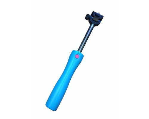 Монопод для селфи Stainless Steel Pole Bluetooth, голубой