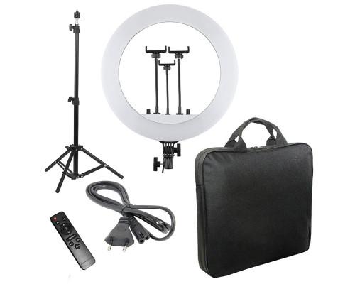 Кольцевая лампа RL-14 с пультом, тремя держателями для смартфона, штативом, сумкой, диаметр 36 см