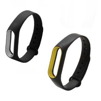 Ремешокдля Xiaomi Mi Band 2 силиконовый silicon loop черный c цветной рамкой