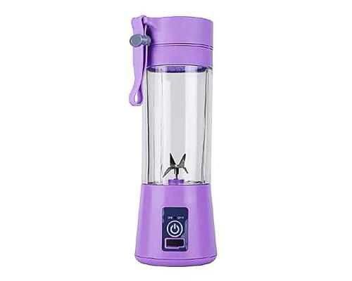 Портативный USB блендер Juice Blender для смузи, 4 лезвия, фиолетовый