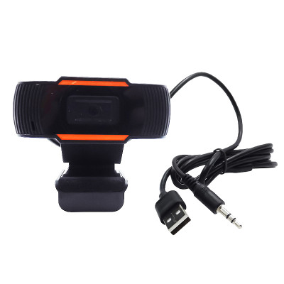 Веб-камера Full HD со встроенным микрофоном, черно-оранжевая
