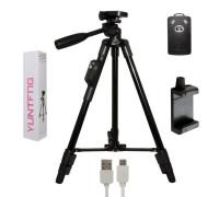 Трипод напольный VDT-5208 с пультом Bluetooth и держателем для телефона, высота 120 см, черный