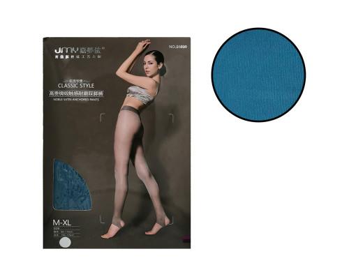 Женские колготки JMY (рост 150-175 см, таллия 85-110 см, цвет темный бирюзовый)