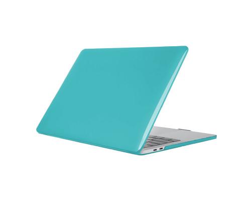 """Пластиковый чехол-накладка для Apple MacBook Pro 13"""" 2016 - 2017, глянцевый, голубой"""