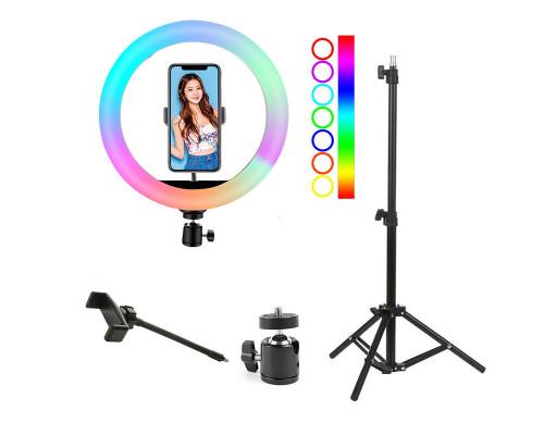 Кольцевая лампа RGB SL-R26 с держателем для смартфона, со штативом, диаметр 26 см