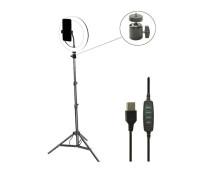 Кольцевая лампа CXB-260 для профессиональной съемки, селфи лампа с держателем для смартфона и штативом, диаметр лампы - 26 см