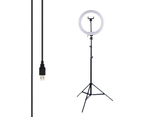 Кольцевая лампа SL-26X с держателем для смартфона, шарниром, штативом, диаметр 26 см