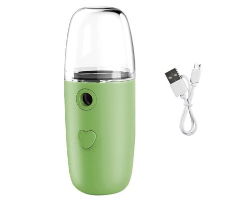 Портативный увлажнитель для лица N08, 50 мл, зеленый