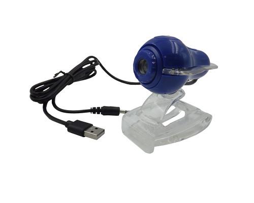 Веб-камера Full HD со встроенным микрофоном, синяя