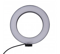 Кольцевая лампа для профессиональной съемки SL-156 без шарнира, диаметр 15 см