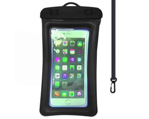 """Чехол-сумка водонепроницаемый для телефона до 6.5"""", универсальный, черный"""