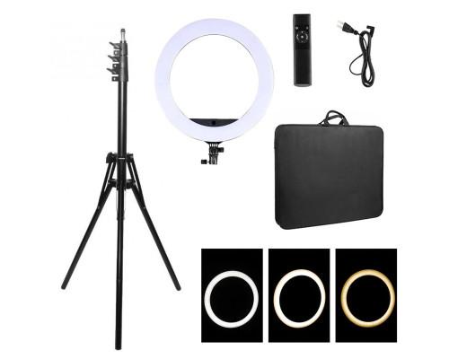 Кольцевая селфи лампа со штативом Soft Ring Light HQ-21N, диаметр 52 см
