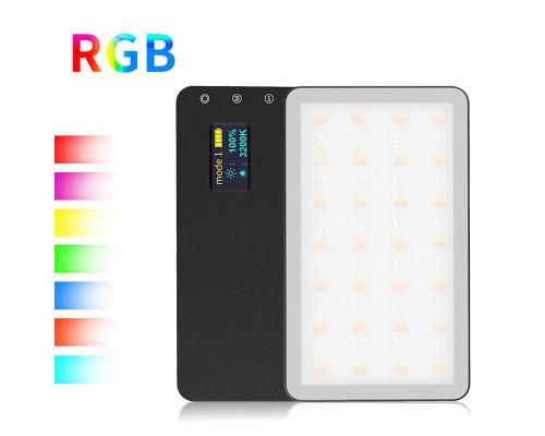 Осветитель светодиодный RGB с регулируемой яркостью для фотосъемки, заряжаемый