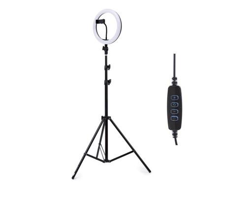 Светодиодная кольцевая лампа M20 со встроенным шарниром, штативом, держателем телефона, диаметр 20 см