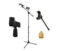 Стойка для микрофона журавль Pro-4815 с держателем прищепка и гибким держателем для телефона 15 см