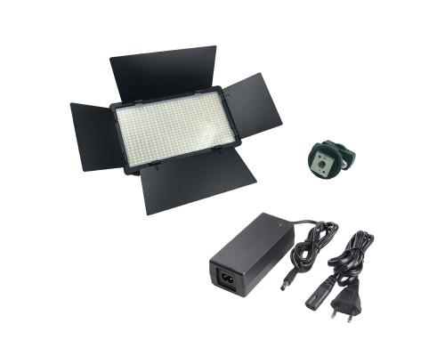 Светодиодная панель U800 для фотосъемки со шторками, регулировкой яркости и с креплением на камеру или штатив
