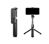 Штатив монопод L03 для смартфона и камеры с пультом bluetooth, настольный/напольный, черный