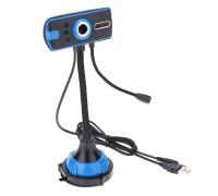 Веб-камера VGA Q20 с внешним микрофоном, черно-синяя