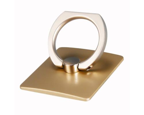 Кольцо-держатель для телефона квадратный, металл, золотистый