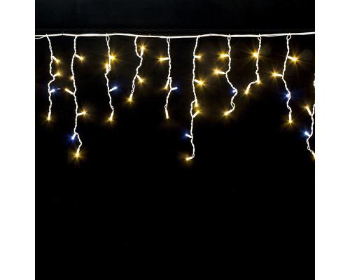 Гирлянда Бахрома уличная 75 ламп, 310х70 см, желтый с белым свет