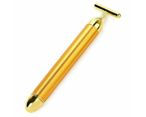 Вибромассажёр для лица Energy Beauty Bar с лифтинг эффектом, золотой