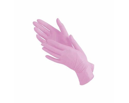 Одноразовые перчатки нитриловые размер М, фламинго, 2 шт. (1 пара)