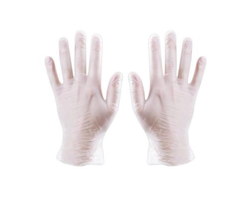 Одноразовые перчатки виниловые размер L, 2 шт. (1 пара)