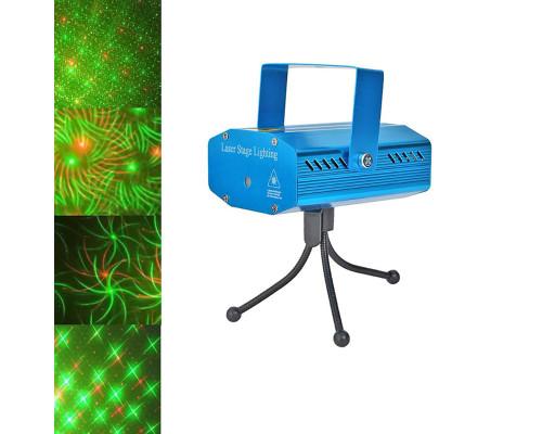 Новогодний лазерный проектор Звездный Дождь для дома XX-050, 4 разных рисунка