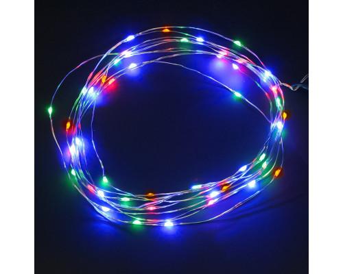 """Светодиодная гирлянда """"Роса"""" на батарейках 2 м, 20 светодиодов, разноцветная"""