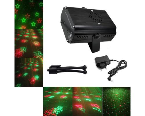 Новогодний лазерный проектор Звездный Дождь для дома LS12 Bluetooth, 6 рисунков