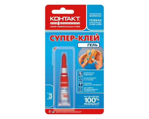 Супер-клей Контакт Гель, 3 г