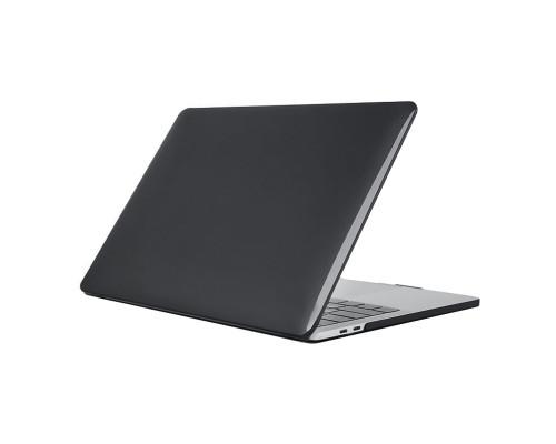"""Пластиковый чехол-накладка для Apple MacBook Pro 16"""" прозрачный, черный"""