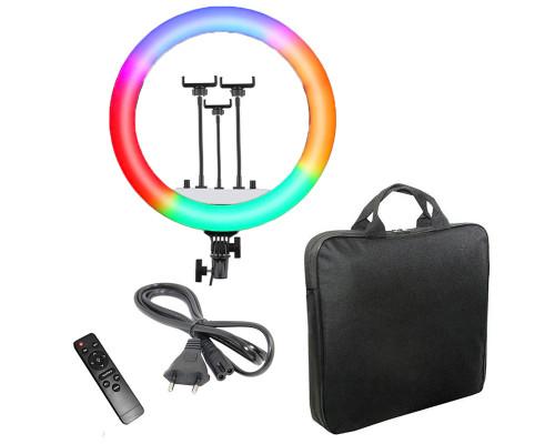 Кольцевая лампа RGB RL-14 с 3 держателями для смартфона, сумкой, диаметр 36 см