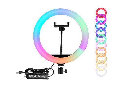 Кольцевая лампа RGB SL-R26 с держателем для смартфона, диаметр 26 см