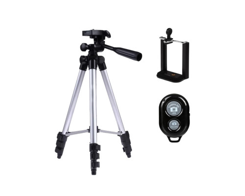 Штатив для камеры и телефона Tripod SA-3888 с зажимом для телефона, пультом Bluetooth