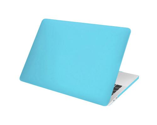 """Пластиковый чехол-накладка для Apple MacBook Pro 13"""" 2016 - 2017, матовый, голубой"""