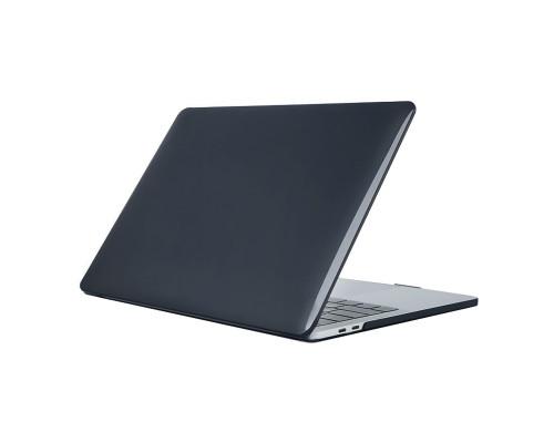 """Пластиковый чехол-накладка для Apple MacBook Pro 16"""" прозрачный, темно-синий"""