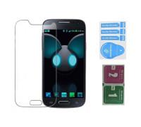 Защитное стекло для Samsung Galaxy S4 Mini (вид - 2.5D, в комплекте салфетка и стикер)