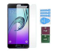 Защитное стекло для Samsung Galaxy A7 2017 (вид - 2.5D, в комплекте салфетка и стикер)