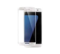 Защитное стекло для Samsung Galaxy S7 Edge  (вид — 3D, толщина 0.20 мм, белая рамка, комплектация эконом)